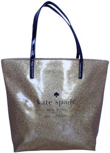 Kate Spade Glitter New York Holiday Shopper Tote in Gold