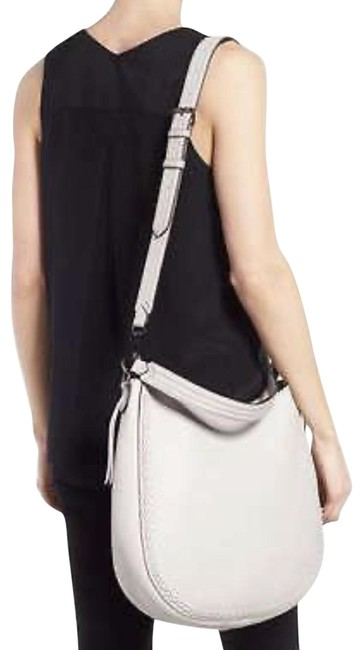 Rebecca Minkoff Unlined Convertible Whipstitch Putty Leather Hobo Bag Rebecca Minkoff Unlined Convertible Whipstitch Putty Leather Hobo Bag Image 1