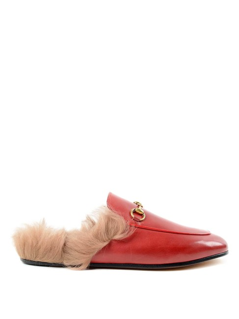 Item - Red Princetown Leather Slipper Mules/Slides Size EU 37.5 (Approx. US 7.5) Regular (M, B)