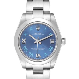 Rolex Rolex Oyster Perpetual Midsize 31 Blue Dial Ladies Watch 177200 Box