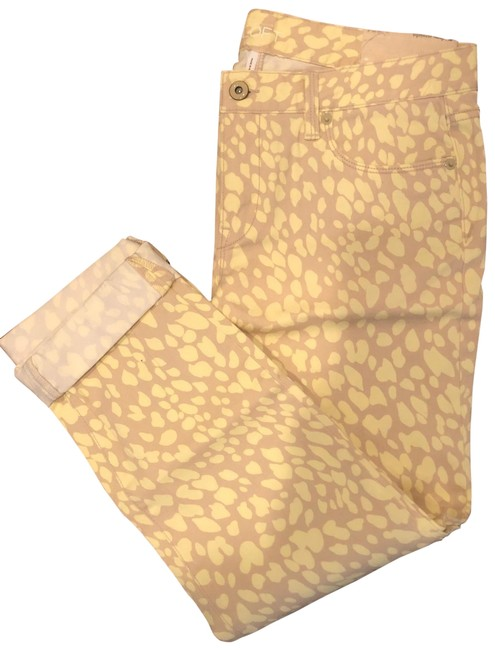 Item - Yellow/Tan Print Modern Pants Size 4 (S, 27)