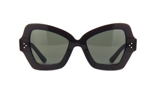 Item - 20n Black Cl40067i Oversized Thick Acetate Cat Eye Sunglasses