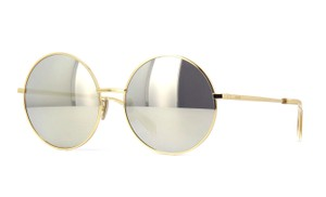 Céline CL40076U Oversized Round Metal with Mirrored Lenses
