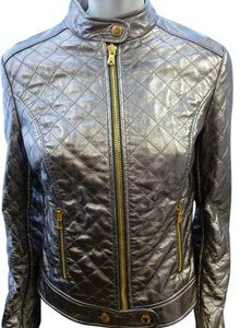 Dolce & Gabbana & Quilted Leather Motorcycle Gold Hardware 42 Motorcycle Jacket