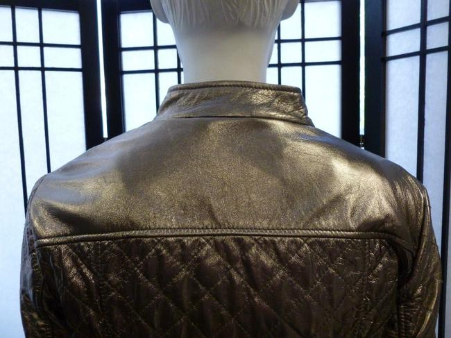 Dolce & Gabbana & Quilted Leather Motorcycle Gold Hardware Motorcycle Jacket