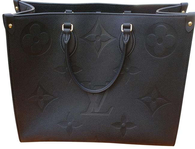 Item - Onthego Gm Black Noir Leather Tote