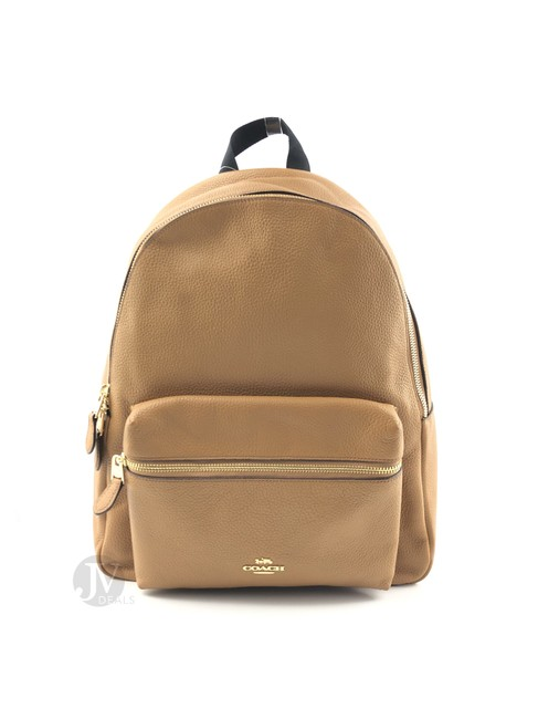 Item - Charlie Coated Canvas Brown Leather Backpack