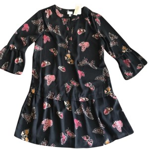 Cupio short dress black, red, pink and mustard. Midi Butterflies Buttondown on Tradesy