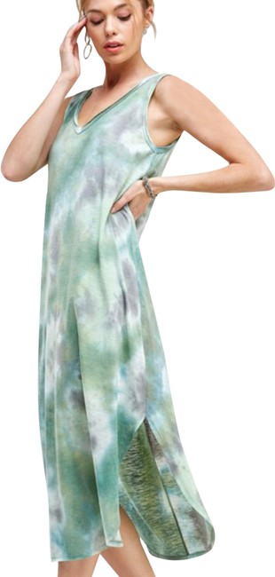 Item - Green Diva Green-tie Dyed Mid-length Short Casual Dress Size 20 (Plus 1x)