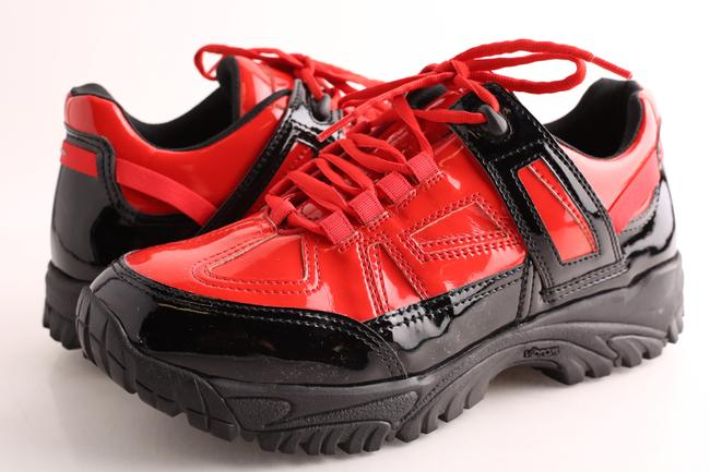 Item - Red/Black Synthetic Sms Security Sneakers Shoes