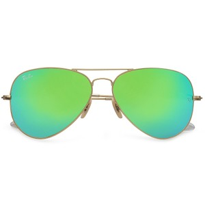 Ray-Ban Ray Ban Unisex RB3025 Gold Frame Green Mirror Lens