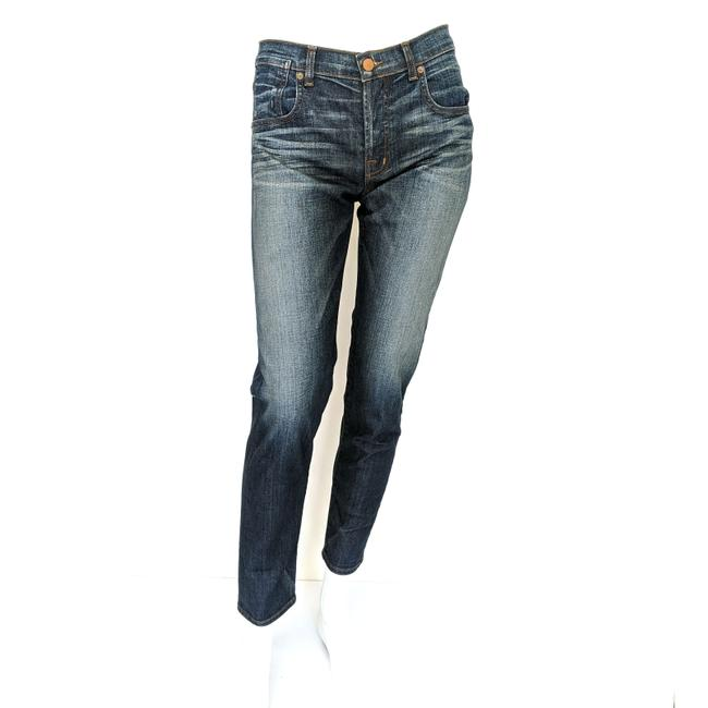Item - Blue Medium Wash Nwot Relaxed Mid Rise Button Fly Boyfriend Cut Jeans Size 27 (4, S)