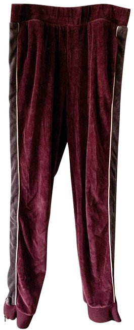 Item - Maroon Grey White Sweat Zip Ankle Sweatpants Pants Size 8 (M, 29, 30)