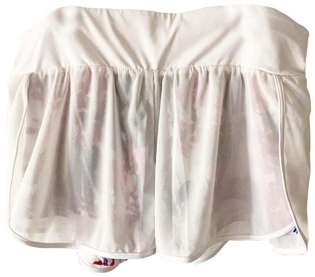 Item - White Blue Pink Red Mesh with Floral Lining Shorts Size 8 (M, 29, 30)