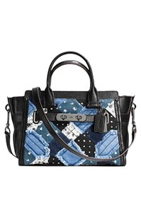 Coach New Swagger Leather Satchel in black