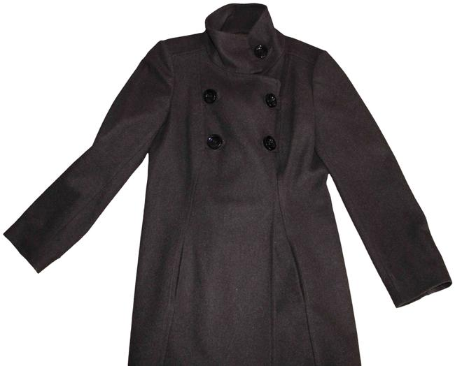 Item - Dark Brown / Black L Overcoat Double Breasted Jacket Coat Size 12 (L)