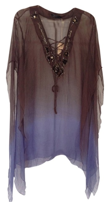 Item - Brown/Purple Ombre Tunic Size 10 (M)