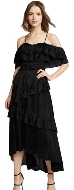 Item - Black Louisa Gown Mid-length Cocktail Dress Size 6 (S)