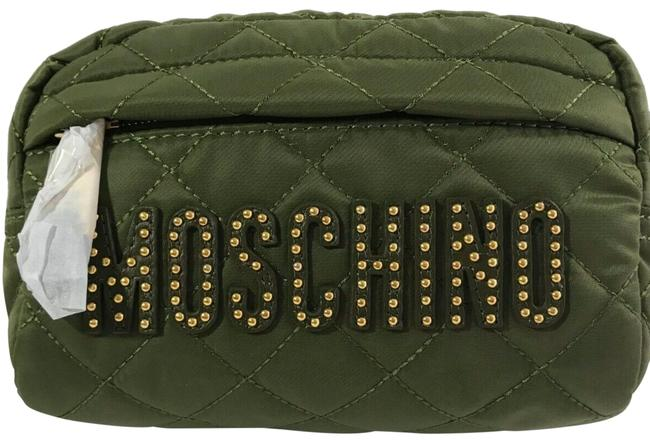 Item - Beauty Case Couture Jeremy Scott Quilted with Gold Studded Logo Green Pvc Clutch