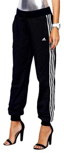 adidas Joggers Track Street Style Cuffed 90's Athletic Pants Black