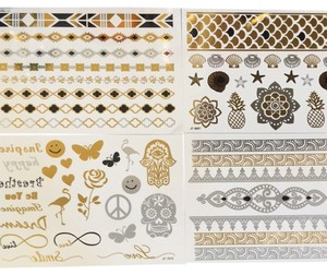 Dazzletat Metallic Gold Flash Tattoos