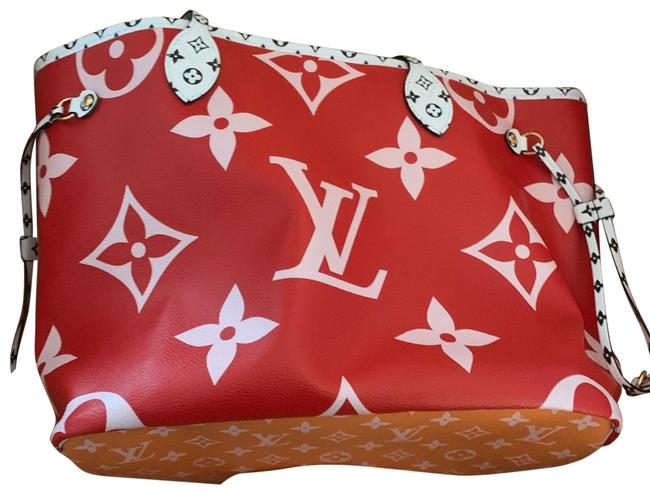 Louis Vuitton Neverfull Giant Red Multi Monogram Canvas Tote Louis Vuitton Neverfull Giant Red Multi Monogram Canvas Tote Image 1