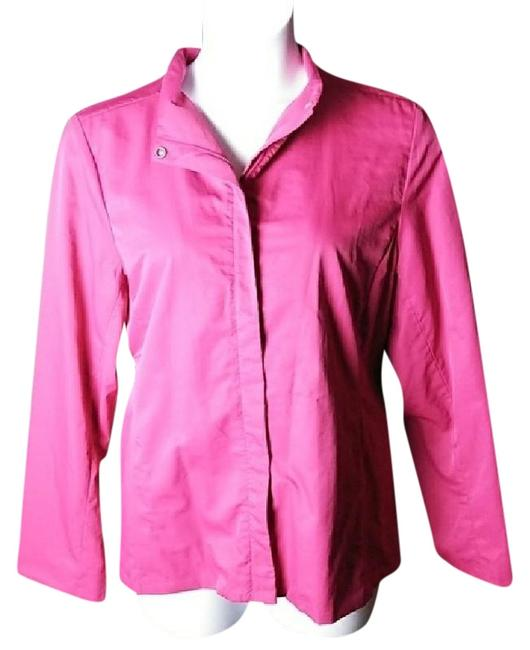 Item - Pink Funnel Neck Zipper Jacket Size 16 (XL, Plus 0x)
