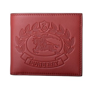 Burberry Burberry Men's 100% Leather Red Bifold Wallet