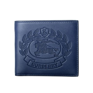 Burberry Burberry Men's 100% Leather Blue Bifold Wallet