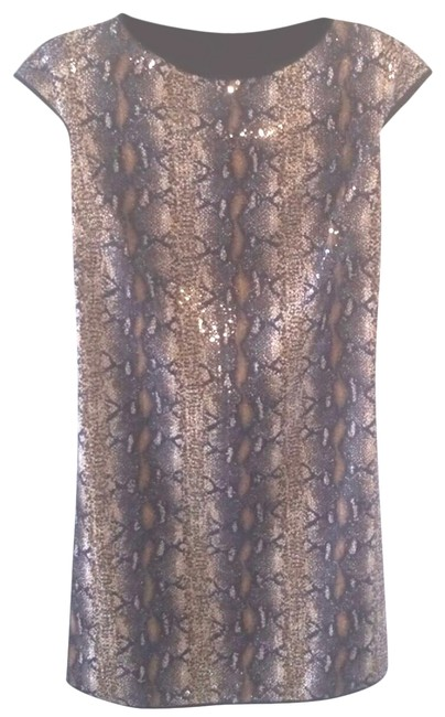 Item - Brown Sequins Short Casual Dress Size 2 (XS)