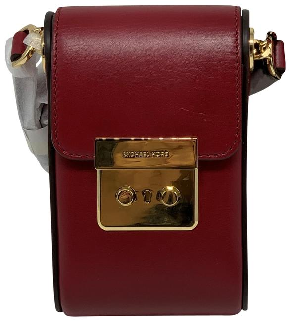 Item - Camera Scout Collection Iphone Cherry Leather Cross Body Bag
