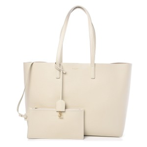 Saint Laurent East West Shopping Tote in Crema Soft