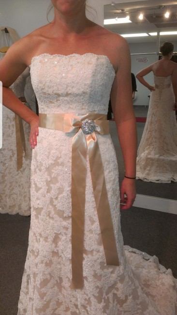 Item - Ivory/Light Gold Lace Karena Royale By Traditional Wedding Dress Size 20 (Plus 1x)
