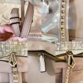 Valentino Leather Rockstud Lock Nude and Clear Pvc Lambskin Cross Body Bag Valentino Leather Rockstud Lock Nude and Clear Pvc Lambskin Cross Body Bag Image 6