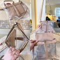 Valentino Leather Rockstud Lock Nude and Clear Pvc Lambskin Cross Body Bag Valentino Leather Rockstud Lock Nude and Clear Pvc Lambskin Cross Body Bag Image 7