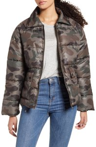 BP. Clothing Quilted Camoflage Multicolor Jacket