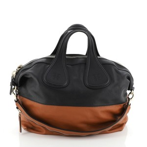 Givenchy Leather Satchel in Black, Brown