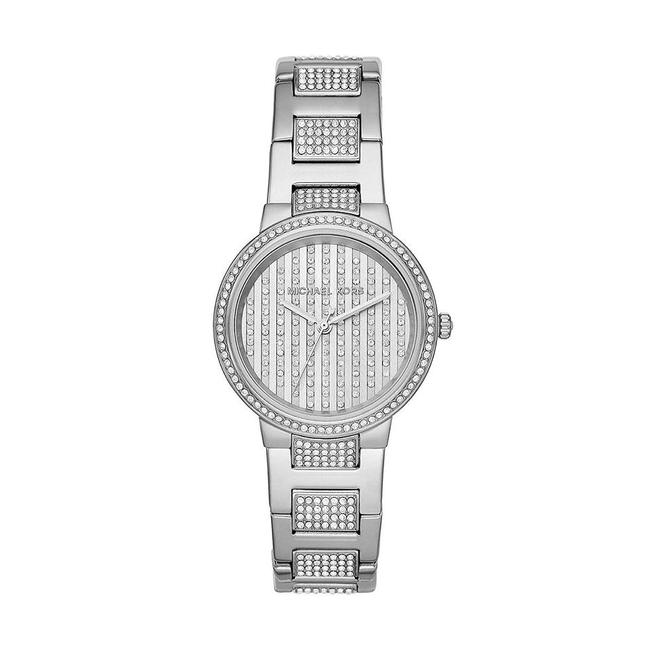 Item - Silver Women's Gabbi Silver-tone Pavé Glitz Mk3984 Watch