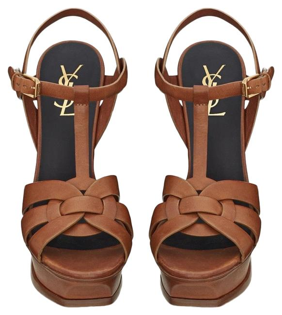 Item - Brown Tribute Ysl Sandals In Smooth Leather Amber Rrp Platforms Size EU 36.5 (Approx. US 6.5) Regular (M, B)