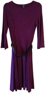Ronni Nicole short dress Dark Red Belted Pullover Longsleeve on Tradesy