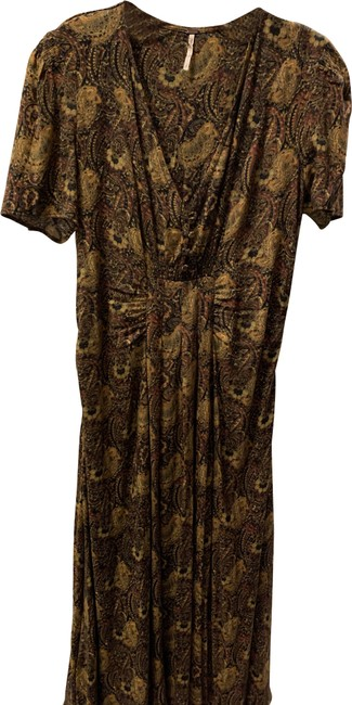 Item - Brown Multi Midi Paisley Mid-length Casual Maxi Dress Size 6 (S)