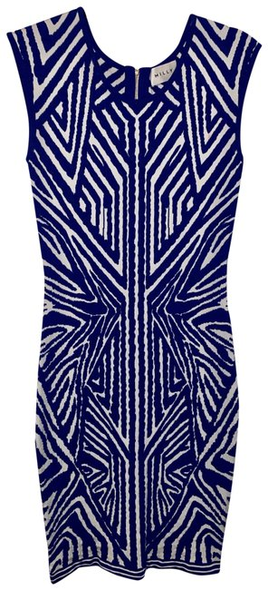 Item - Cobalt/ White Short Night Out Dress Size 4 (S)