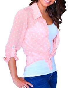 Living Doll Los Angeles Button Down Shirt pink