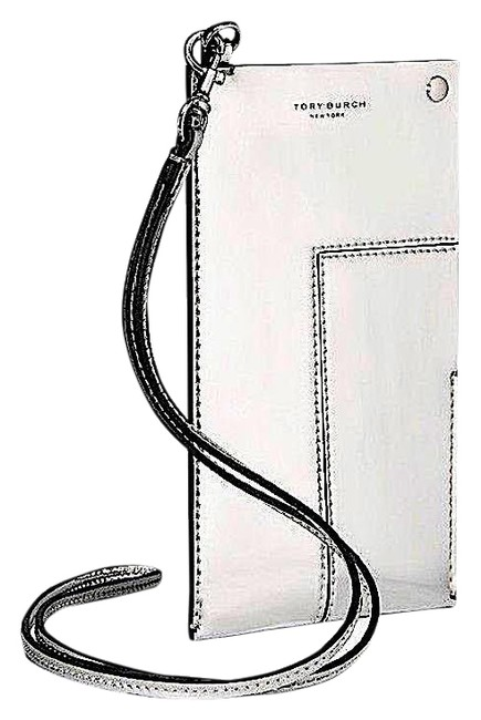 Item - Silver with Tag Block-T T Women's Metallic Phone Lanyard | 040 | Leath Tech Accessory