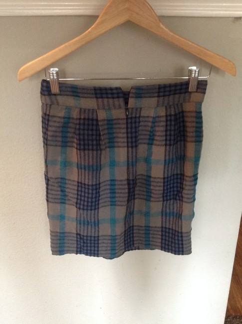 Urban Outfitters Mini Skirt Grey/Blue