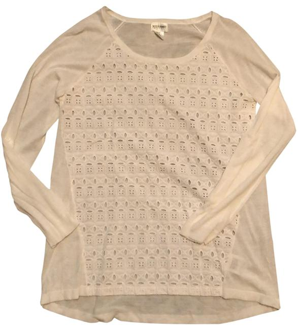 Item - White Eyelet Front Maternity Top Size 6 (S)