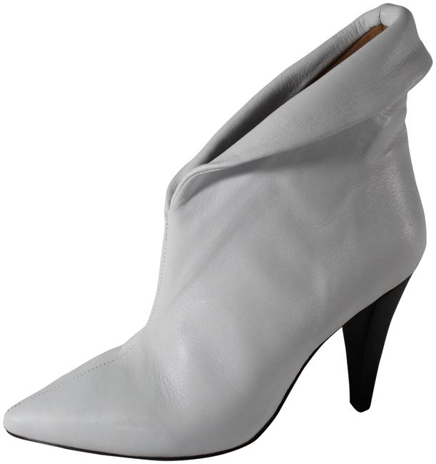 """Item - White Lambskin Leather """"Fawn"""" Cuffed Pointed Toe Ankle Boots/Booties Size US 6.5 Regular (M, B)"""