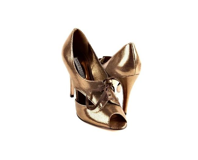 Anne Klein Bronze-gold Belladona Metallic Open-toe Oxford Pumps Size US 7.5 Regular (M, B) Anne Klein Bronze-gold Belladona Metallic Open-toe Oxford Pumps Size US 7.5 Regular (M, B) Image 1