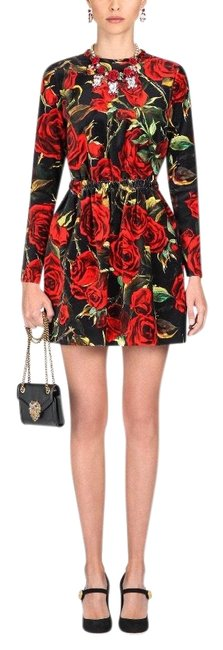 Item - Black and Red Rose A Signature Short Cocktail Dress Size 8 (M)