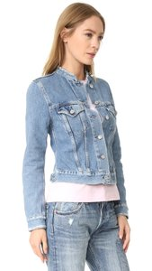 Acne Studios Distressed Jean Top Ind Fray Cropped Indigo Womens Jean Jacket